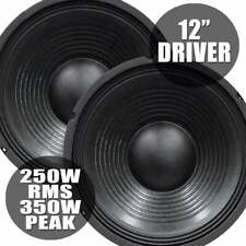 More details for pair of soundlab 350w bass chassis speaker driver 8 ohm 12 inch woofer high spl