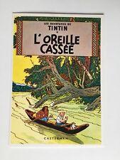 TINTIN CARTE POSTALE L OREILLE CASSÉE / HERGE / ARNO 1981 CASTERMAN