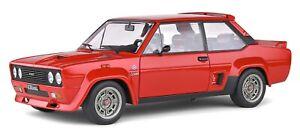 FIAT 131 ABARTH diecast model road car red body 1980 1:18th SOLIDO 1806002