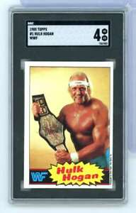 1985 TOPPS WWF HULK HOGAN ROOKIE #1 SGC VG-EX 4 RB7675
