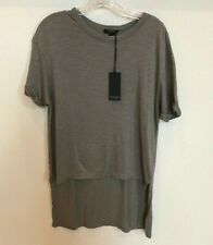 BLACK ORCHID Women's Short Sleeve High Low TEE Olive Size Small Cotton/Viscose