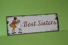 Blechschild  BEST SISTERS  36 x 13 cm Eisen Neu    TP-133