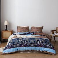 Reversible Bedding Set Duvet Quilt Cover Pillowcase Comforter Twin Queen King