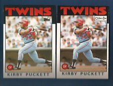 (2) 1986 TOPPS & O-PEE-CHEE TWINS KIRBY PUCKETT  CARD LOT #329