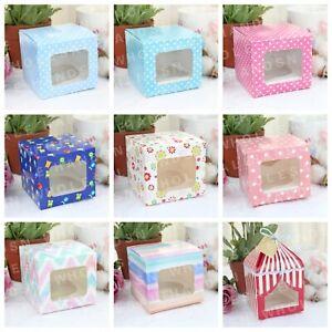 6 / 12 / 18 / 24 / 30 PCS Single Cupcake / Muffin / Fairy Cake Boxes Gift box
