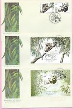 AUSTRALIA  Set of 3 FDC's 1995 Bears  JOINT ISSUE WITH CHINA - Shs Melbourne VIC