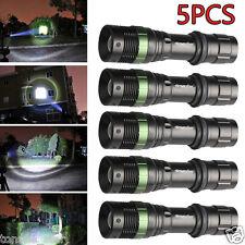 5PCS SkyWolfEye Taktisch Taschenlam XM-L T6 LED Torch 3 Modes 18650 Licht Lampe