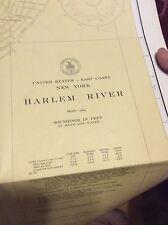 Vintage circa 1950 USC&GS Chart Map - Harlem River