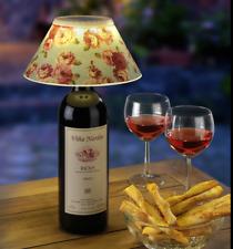 Trendige LED Flaschenleuchte,3 Wechselschirme inklusive (Rosen, Sterne, Punkte)