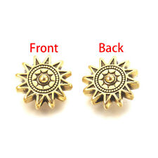 20x Antique Golden Tibetan Alloy Sun Beads Nickel Free Spacer Beads Craft 17x6mm