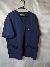 Figs Alexandria Women's Scrub Top Size XXL 2XL Navy Blue With Pockets