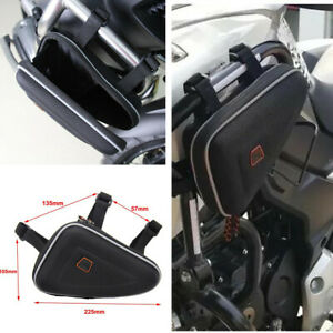 R1200GS F800GS Frame Bag Motorcycle Luggage Storage Pouch Toolkit Black