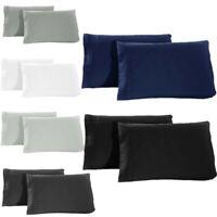 Set of 2 Pillow Case Super Soft Premium 1800 Set Standard Queen / King New