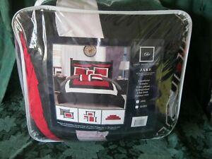 Chic Home Jake 10 Piece Comforter Set  King Block Geometric Pattern New in Bag