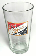 Miller Beer Pint Drinking Glass 16 oz Cup with Export Label