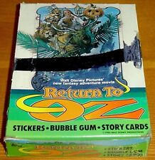 Disney Return to Oz Film Full Box of Rare Sticker Cards and Gum by Topps (1985)