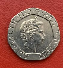 20 pence mint ERROR double die (looks like a snot under Elizabeth's nose) RARE