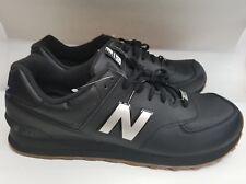 new product 09fa5 520e5 NEW Balance 574 Men s Black Brown Shoes ML574LEB SZ 18