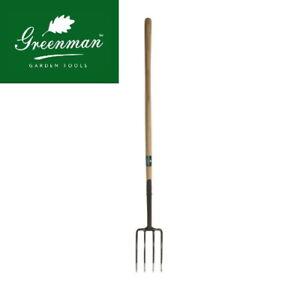 "Digging Fork High Quality Greenman Carbon Steel 4ft 48"" Long Handle"
