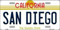 San Diego California State Background Novelty License Plate
