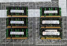 Lot of 6 DDR2 SODIMM Laptop Memory (8GB total) Samsung/Hynix 1GB/2GB 5300S/6400S
