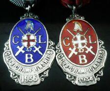 Silver Enamel Medals, Church Lads Brigade, Hallmarked 1934 & 1935