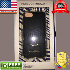 Rebecca Minkoff Black Leather Slide Cell Phone Case for Apple iPhone 6 6S 7 8