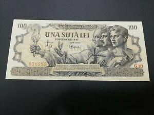 ROMANIA 100 LEI 1947 UNC
