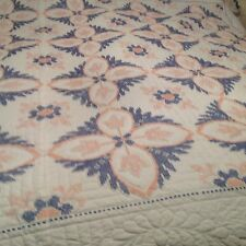 Hand Embroidered, Hand Quilted Lg Queen