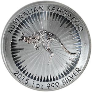 Australia 1 oz Silver Kangaroo 2015 .9999 Fine Nice UNC $1 Coin