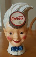 Antique Coca Cola Sprite Boy Cast Iron Piggy Bank Soda Advertising Coke