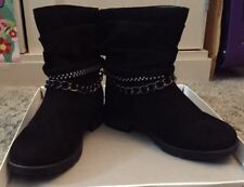 American Eagle Payless Girl Black Luca Boot. Size 12 Girls. Dressy Bling No Box.