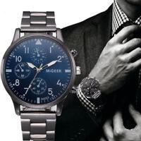 Luxury Men's Business  Stainless Steel Band Analog Quartz Wrist Watch Watches