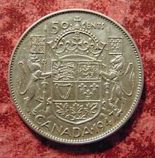 CANADA Canadian 1947 Straight 7 silver fifty 50 cent cent piece half dollar coin
