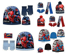Official Marvel Kids Boys Spiderman Avengers Bobble Hat Gloves Hat Scarf Gloves