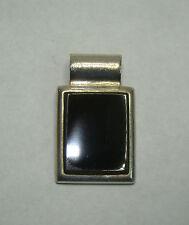SE Sterling Silver Rectangle Black Onyx Pendant, 8.43 Grams, # L529