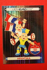 Panini EURO 2012 N. 368 HRVATSKA MASCOTTE NEW With BLACK BACK TOPMINT!!