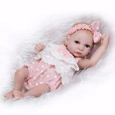 Handmade Mini Reborn Baby Girl Doll Newborn Vinyl Silicone Preemie Cute Toy Gift