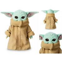 25cm Baby Yoda Plush Toy Wakes Master The Mandalorian Force Stuffed Doll Gift