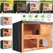 4FT Double Decker Bunny Cage Protector Rabbit Hutch Cover Dustcover Covers Large