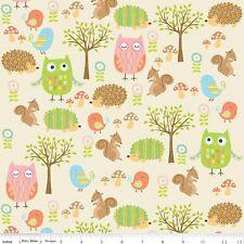 Stoff Patchwork USA Owl Eulen Riley Blake Reststück 42 cm