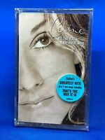 Celine Dion - All The Way A Decade Of Song Cassette Tape Hype Sticker USA SEALED