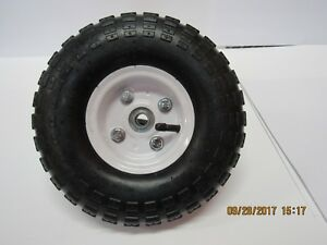 "Utility Wheels / Tires: 4.10/3.50-4 with 5/8"" Bearings - 10"" Pneumatic Tire"
