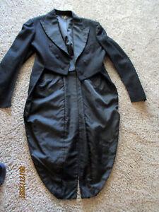Men's Petersen-Harned-Von Maur  Black Tux  Long Tails Tuxedo Jacket Peak Lapels