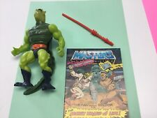 Whiplash 1983 He-Man MOTU   Green Tail Lizard Man  W/comic