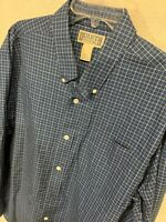 Duluth Trading Company Men's 100% Cotton Long Sleeve Button Up Dress Shirt XL