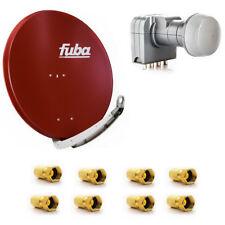 Fuba DAA 850 R SAT Anlage Schüssel HDTV 85 cm Rot Fuba DEK 417 Quad LNB LNC Kopf