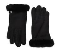 UGG Women's SHEARLING Sheepskin-Trimmed Leather Gloves Black S, M, L Retail $140