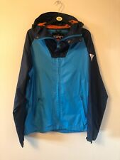 Soviet Mens Jacket Light Weight Large Blue With Hood Russian Built Zipper Front