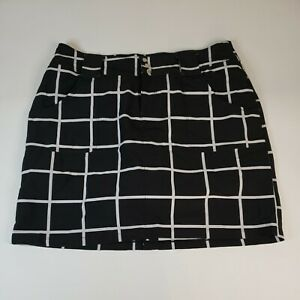 JOFIT Women's Size 10 Black White Short Skort Mini Skirt Tennis Golf